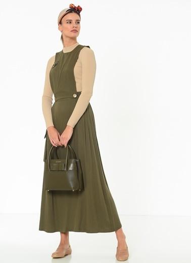 Manila Kolsuz Elbise Yeşil